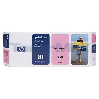 HP DESIGNJET 5000 NO 81 DYE INK CTG LIGHT MAGENTA 680ML